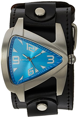 Nemesis Men's LBB011L Oversized Collection Blue TearDrop Triangle Leather Band Watch