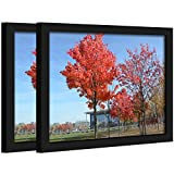 """Document Frame 8.5x11 Inch Standard Paper Frame Without Mat to Display Pictures 8.5""""x11"""" Wall Mounting Certificate Frames If Add Mat Can As 8x10 7x11 7x9 6x8 5x7 4x6 3.5x5 Frame (2PACK)"""