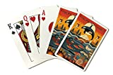 Pacific Northwest - Marine Animals - Geometric (Playing Card Deck - 52 Card Poker Size with Jokers)