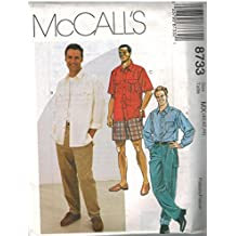 8733 McCalls Sewing Pattern UNCUT Mens Shirt Pants Shorts Size 44 46 48