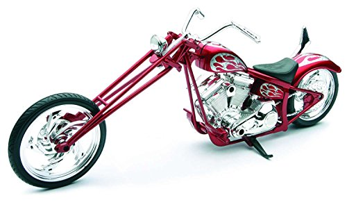 Custom Red Chopper, 1:12 scale Plastic Model Motorcycle, (New Ray Diecast Motorcycles)