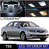 Acura TSX 2004-2008 Xenon White Premium LED Interior Lights Package Kit (6 Pieces) + TOOL