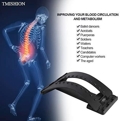 Portal Cool Partidario de camilla lumbar multinivel Espina dorsal Masajeador 20 puntos de masaje Alivio del dolor en la...