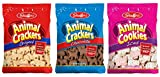 Stauffer's 3-Pack Animal Crackers Cookies Variety: Iced, Chocolate & Original [1 of Each]