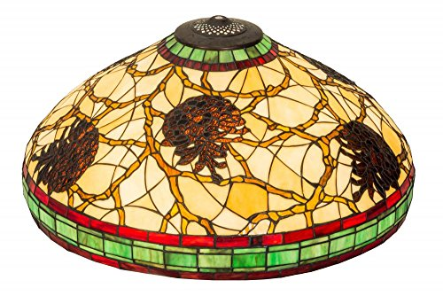 Meyda Tiffany 40352 Pinecone Lamp Shade, 22