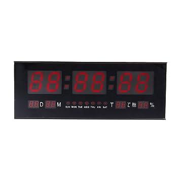 Amazoncom Digital LED Alarm Calendar ClockLarge Jumbo Display