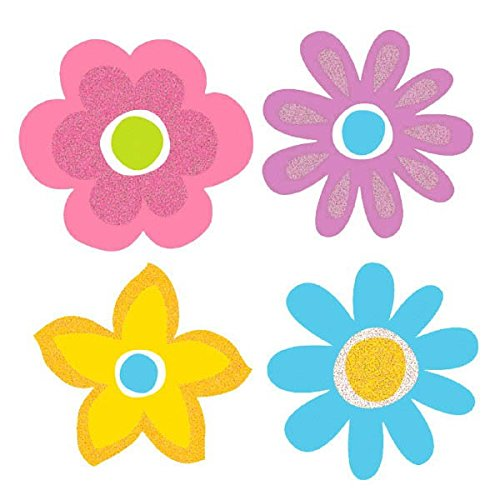 Amscan Spring Mini Paper Cutouts Super Value Party Decorations (Pack Of 50), Multicolor, 2 1/2