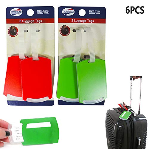 6PC Lightweight Waterproof Travel Luggage Tag Suitcase Label Name Address ID Bag