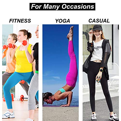 LOVESOFT Womens High Waist Leggings, Ankle Length Solid Color, Soft and Strench, Basic Yoga Pants for Workout Casual