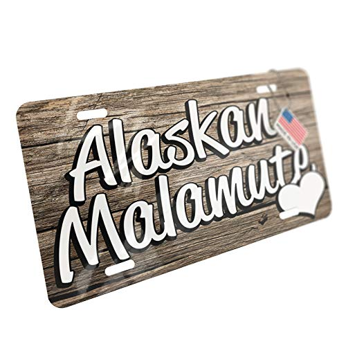 NEONBLOND Alaskan Malamute, Dog Breed United States Aluminum License Plate