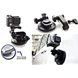 SublimeWare® - Suction Cup for Gopro Mount Car Windshield Window Vehicle Boat Camera Holder For Gopro Suction Cup Mount gopro windshield mount Hero2 Hero3 Hero3+ Hero4 Hero5 Black Session HD SJCAM SJ4000 SJ5000