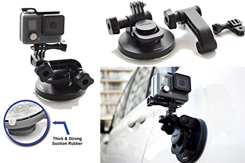 SublimeWare - Suction Cup for Gopro Mount Car Windshield Window Vehicle Boat Camera Holder For Gopro Suction Cup Mount gopro windshield mount Hero2 Hero3 Hero3+ Hero4 Hero5 Black Session HD SJCAM