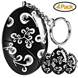 Personal Alarm Keychain, FOABER 4 Pack 120 dB Emergency Safety Self Defense Security Alarms Keychain, Purse Safe Sound Alarm Device for Women Elderly Kids Night Workers