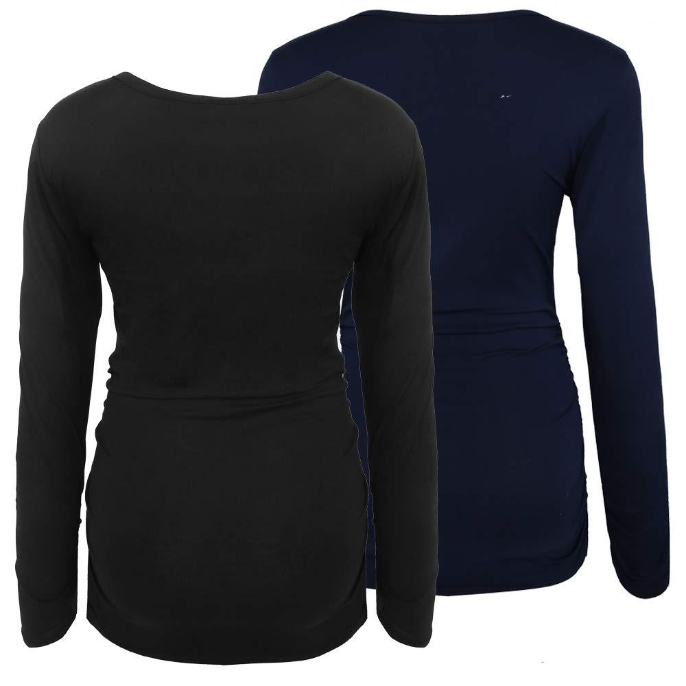 Joweechy Maternity Clothing for Women Half Sleeve Pregnant T Shirt Tops Off Shoulder