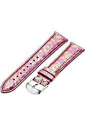 MICHELE MS18AA420675 18mm Snakeskin Pink Watch Strap