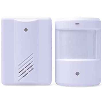 Mengshen® entrada de puerta de la alarma de Bell Chime timbre inalámbrico por infrarrojos IR detector del sensor del monitor de Split alarma MS-YBQ03: ...