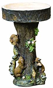 Kelkay 4311 Squirrel Tree Bird Bath Statue