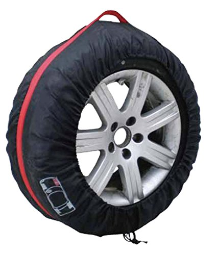 4 PCS Black&Red Nylon Car 16''-22'' Wheel Tire Tyre Protection Cover Storage Bag by Generic (Image #3)