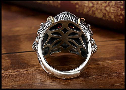 Men's Sterling Silver Hand-adjustable Ring, Retro Dapeng Wings Domineering Single Finger Jewelry.