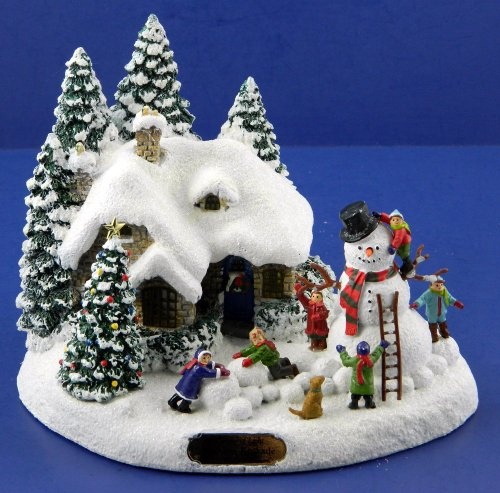 thomas-kinkade-telefora-2012-lighted-everetts-christmas-cottage-and-snowman