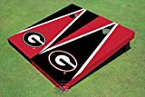 University of Georgia ''G'' Red and Blk Alternating Triangle Cornhole Boards