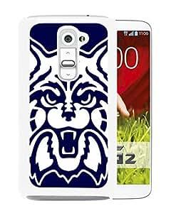 Arizona Wildcats White Hard Plastic LG G2 Phone Cover Case