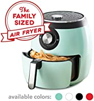 Dash DFAF455GBAQ01 Deluxe Electric Air Fryer + Oven Cooker with Temperature Control, Non Stick Fry Basket, Recipe Guide + Au