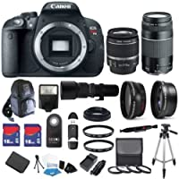 Canon EOS Rebel T5i 18 MP CMOS Digital SLR Full HD 1080 Video Body with EF-S 18-55mm IS STM Lens & EF 75-300mm III Lens Noticeable Review Image