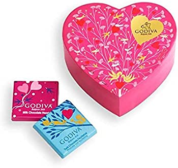 Godiva 6-Piece Mini Chocolate Heart Box