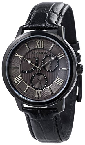 Thomas Earnshaw Mens The Cornwall Sweep Retrograde Watch - Black/Grey