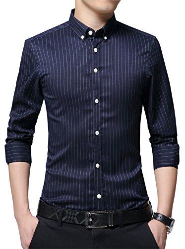 Button Down Striped Dress Shirt - 8