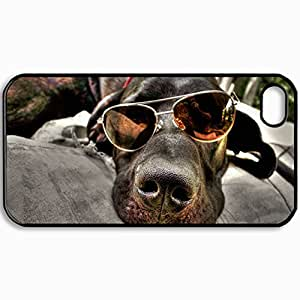 Customized Cellphone Case Back Cover For iPhone 4 4S, Protective Hardshell Case Personalized Design Design Time Nice Design Black