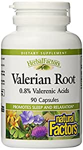 Natural Factors - HerbalFactors Valerian Root Extract 300mg, Promotes Sleep & Relaxation, 90 Capsules