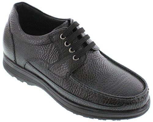 G-CALTO 1824-(3 7,62 cm, altezza Inches)-Tappetto aumentare ascensore-Lacci scarpe, leggere, colore: nero