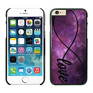 Iphone 6 Case 4.7 Inches, Top Black Hard Phone Cover Case for Apple Iphone 6 Infinity Love Galaxy