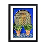 Framed 24x18 Print of North Africa,Morocco,Marrakech,Jacques Majorelle Botanical Gardens (12614031)