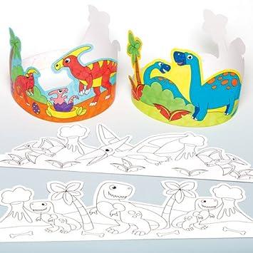 Coronas Para Decorar Cuadernos.Baker Ross Coronas De Dinosaurios Para Colorear Que Los