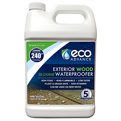 Eco Advance EAWOD128PD 1 Gallon Ready to Use Exterior Wood Siloxane Water Repellent ()