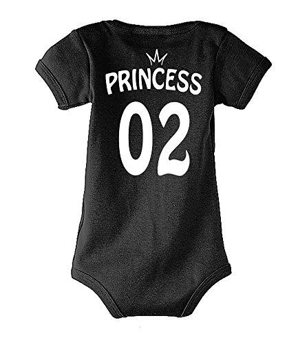 Toute 02 Enfant Noir La Princess shirt 01 T King Tailles Famille Body Baby Homme 02 Set amp; Différentes Queen Pour Bébé Femme Et Prince Couleurs Modèle OwrpUqO