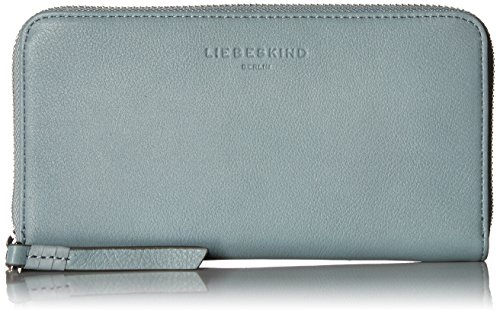 Liebeskind Berlin Women's Aruba Leather Zip Around Wallet Wallet, Stone Blue, One Size by Liebeskind Berlin