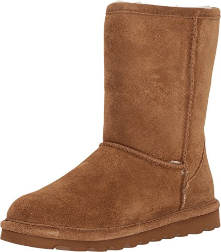 BEARPAW Women's Elle Short Wide Boot Hickory II Size 11 C/D US