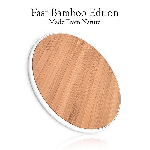 Oem Match Wood - SurgeDisk Fast Wireless Charger Qi Charging Pad Ultra Slim & Sleep-Friendly Universal Newest Model Compatible with iPhone X iPhone 8 Plus iPhone 8 Samsung Galaxy S9 S8+ S8 S7 S7edge S6 All Qi Devices