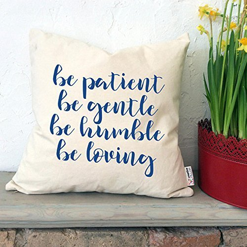 Be patient Be gentle Pillowcase Affirmation gifts Love pillow cover Positive thinking gifts Quote pillowcase Gift for friends Home decor Pillowcases with sayings (Minnesota Vikings Khaki)