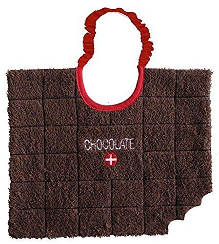 (Zigozago - Baby Bib Swiss Chocolate bar - Tie: Elastic - One Size)