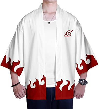 Kimono Naruto Estampado Cardigan Camisa Uchiha Sasuke Hokage Cosplay Tshirt Japonés Elegante Kimono Albornoz Verano Pijamas: Amazon.es: Ropa y accesorios