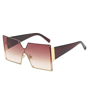 Yuanz Gafas de Sol cuadradas para Hombres y Mujeres Diseño ...