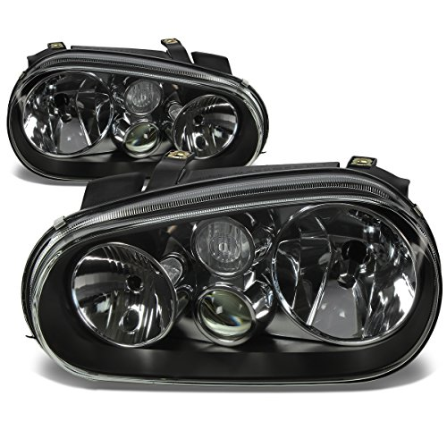 DNA motoring HL-OH-VWGOLF99-BK Headlight Assembly, Driver and Passenger Side