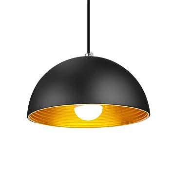 Amazon.com: Lámpara colgante vintage de metal semicircular ...