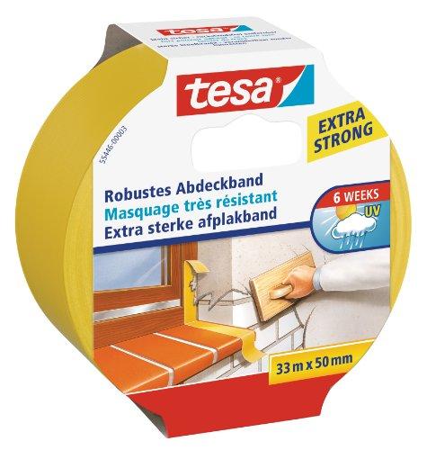 tesa Putzband, robustes Abdeckband, 33m x 50mm
