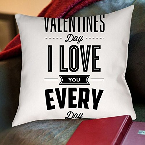 American Flat Forget Valentines Day I Love You Everyday Pillow by Brett Wilson, 20'' x 20'' by Americanflat